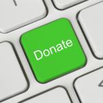"green ""donate"" key on computer keyboard"